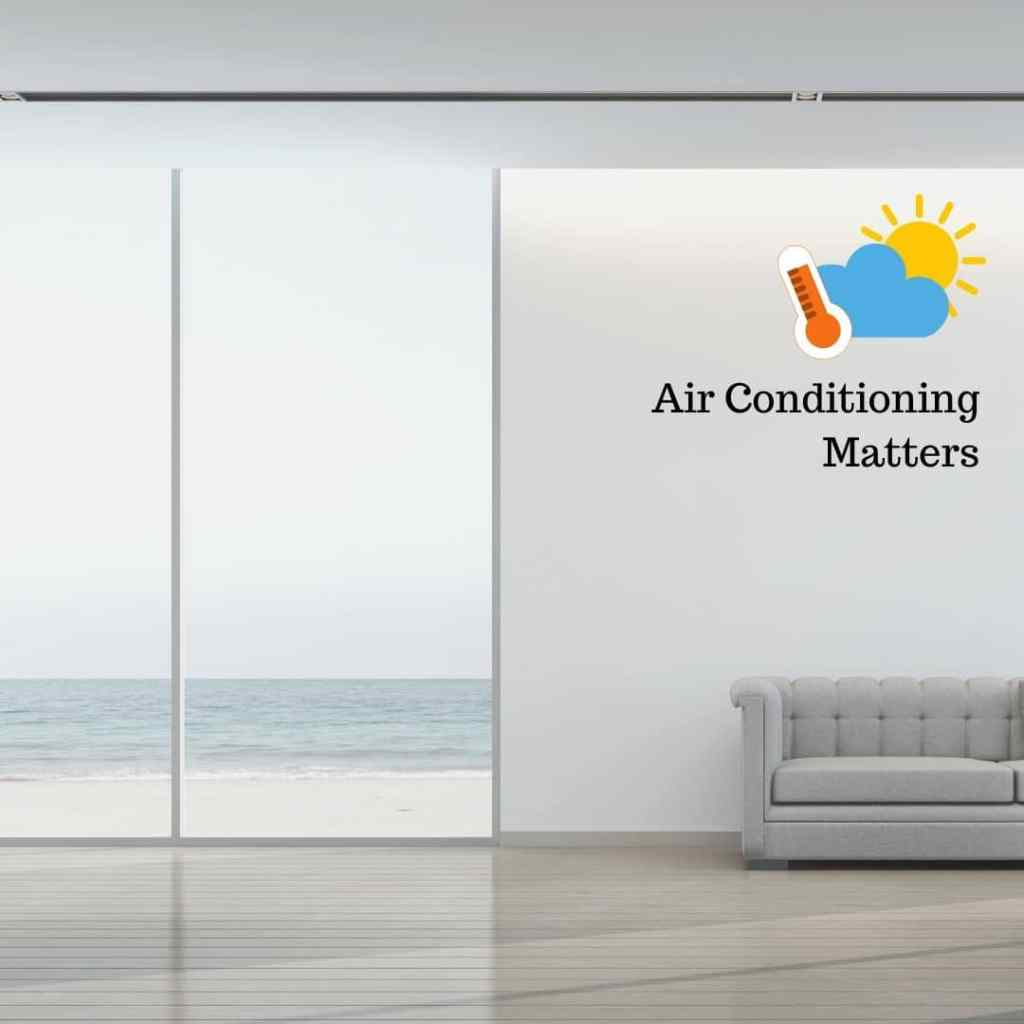 hot room open blinds air conditioner