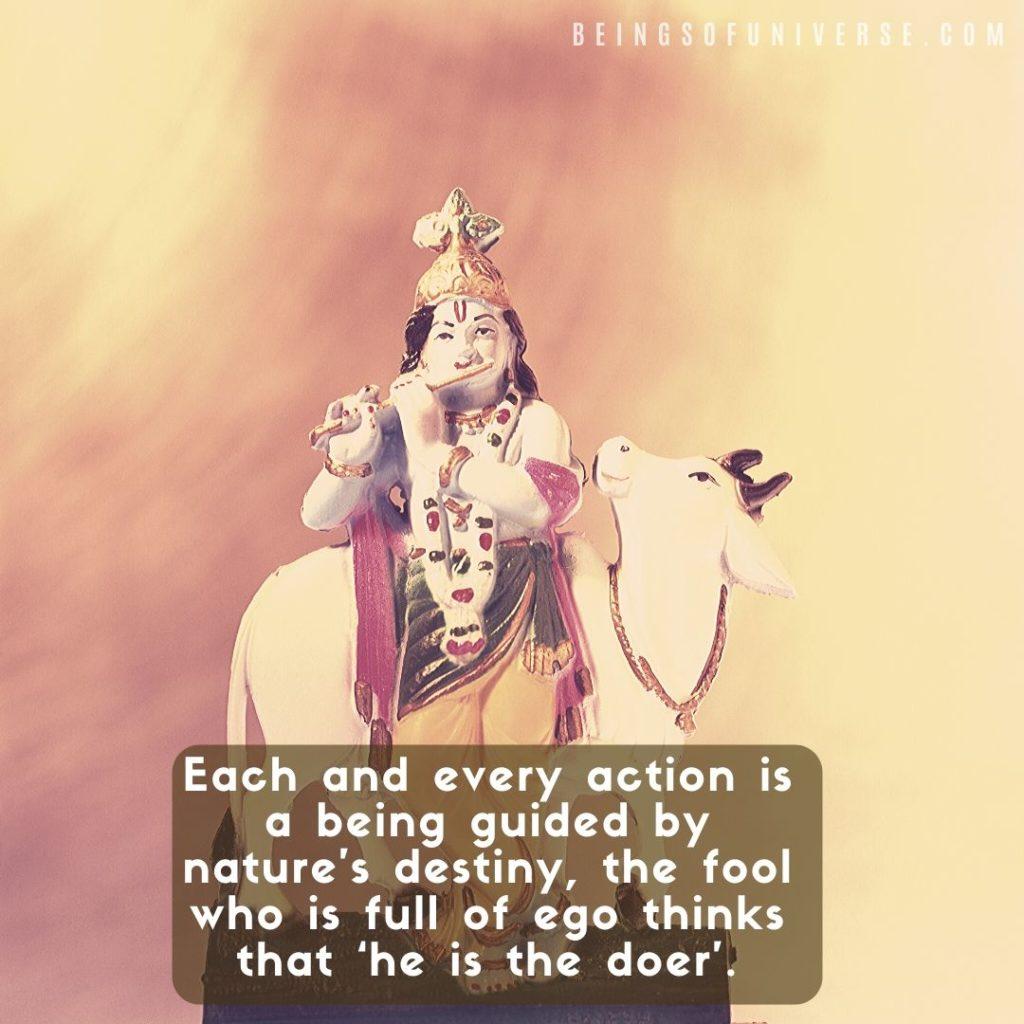 bhagavad gita quote about ego