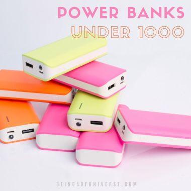 power banks under 1000