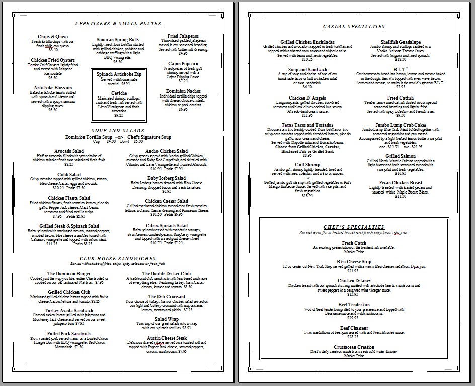 Menu Templates Free Word if you need a restaurant menu template – Free Restaurant Menu Template Word