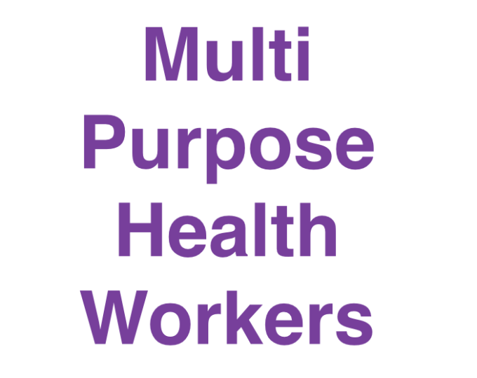 multi purpose health workers india