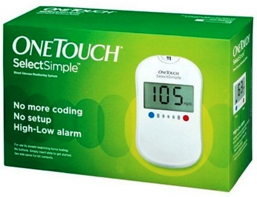 one touch select simple glucometer