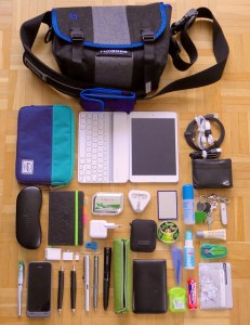 check contents of child school bag
