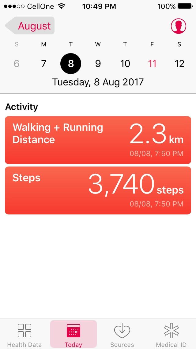 health app iPhone iOS fitness