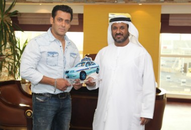 Salman Khan with Saif Belhasa, Chairman of the Saif Belhasa Group of Companies