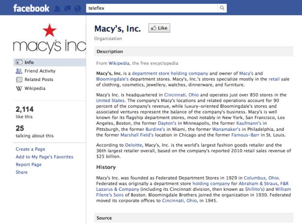 Macys Facebook Community Page