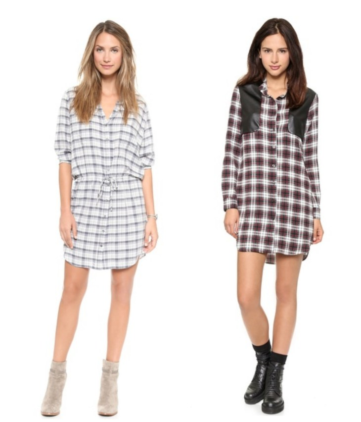 PlaidShirtDress