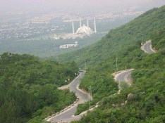 View Of Faisal Mosque Islamabad