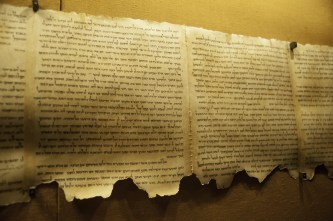 Dead Sea Scroll at Qumran, Israel