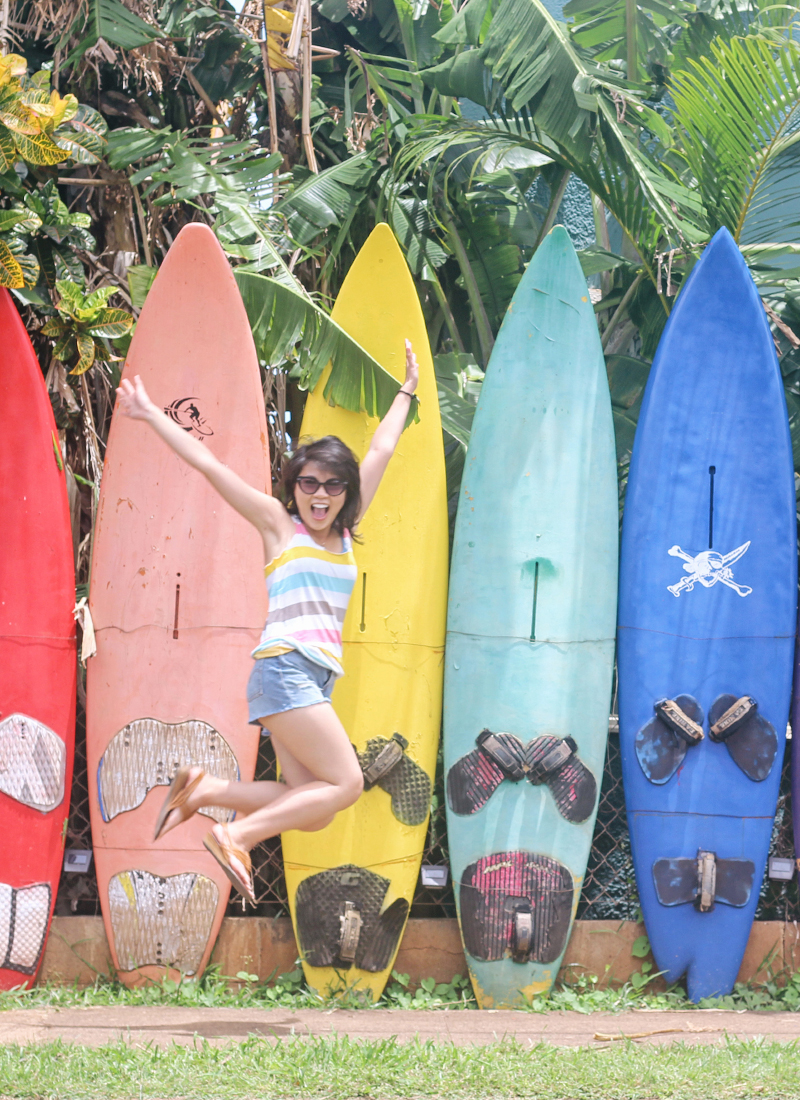 Outfit of the Day: Paia, Hawaii Colorful Surfboards