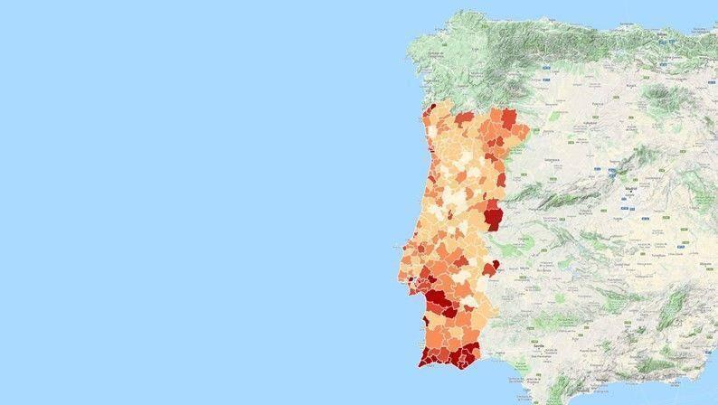 Mapa: Como evoluiu a criminalidade em todos os municípios portugueses