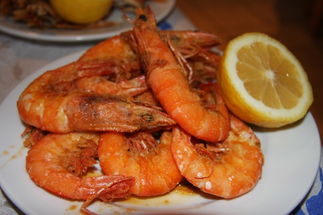 The best prawns I have ever eaten, Athens