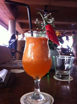 Emperors New Clothes - Vanilla infused tequila, pepper and chilli syrup, mandarin juice and lemongrass