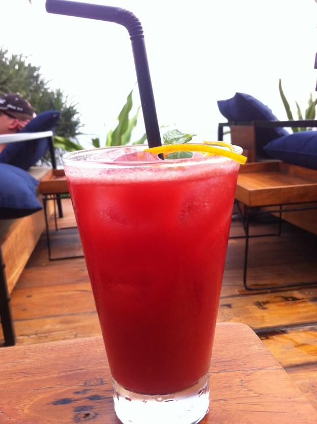 PH20 - Campari, citrus vodka, orange juice, raspberry puree, grapefruit and orange sorbet