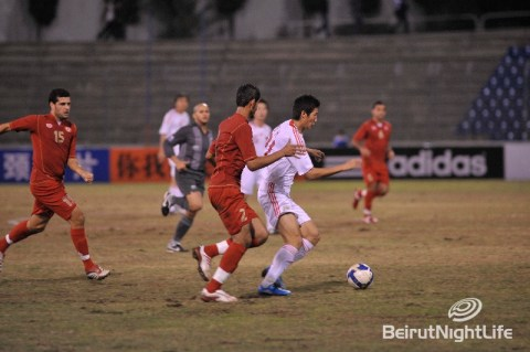 football lebanon china