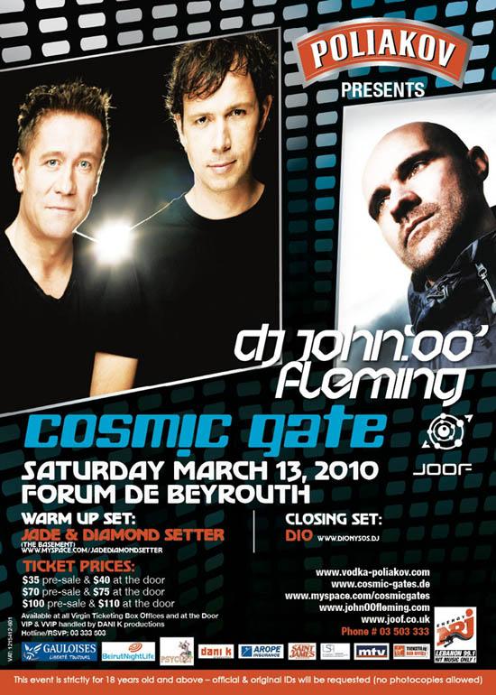 Cosmic Gate & John OO Fleming in Lebanon