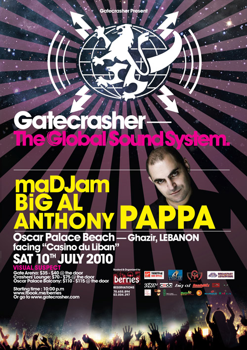 Gatecrasher- Anthony Pappa July 10th