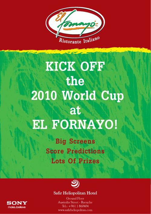 Kick Off the 2010 World Cup at EL FORNAYO!