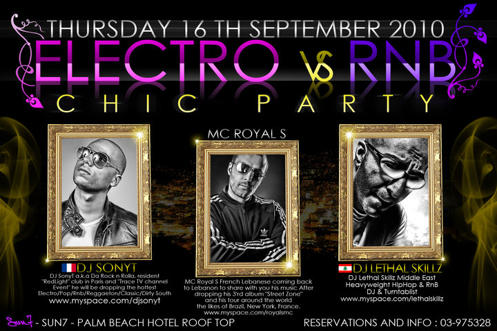 Electro VS. RnB Chic at Sun7 – Palm Beach Hotel Roof Top