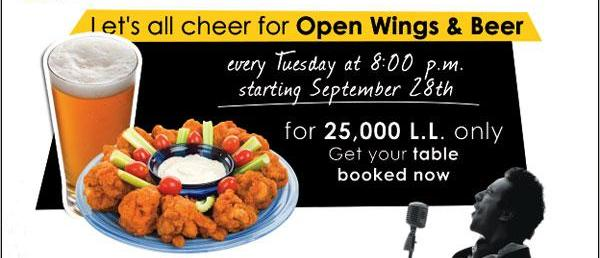 Open Wings and Beer
