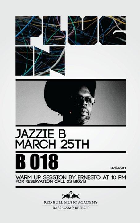 RedBull Presents Jazzie B At B018