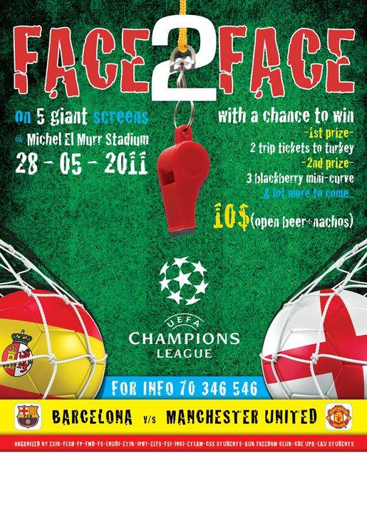 Face 2 Face Champions League Final At Michel El Murr Stadium