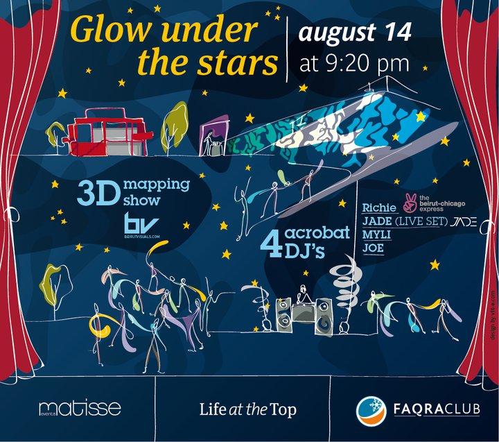 Glow Under The Stars At Faqra Club