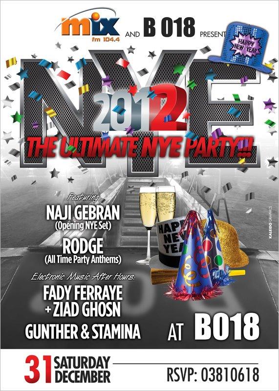 Ultimate NYE Party At B018