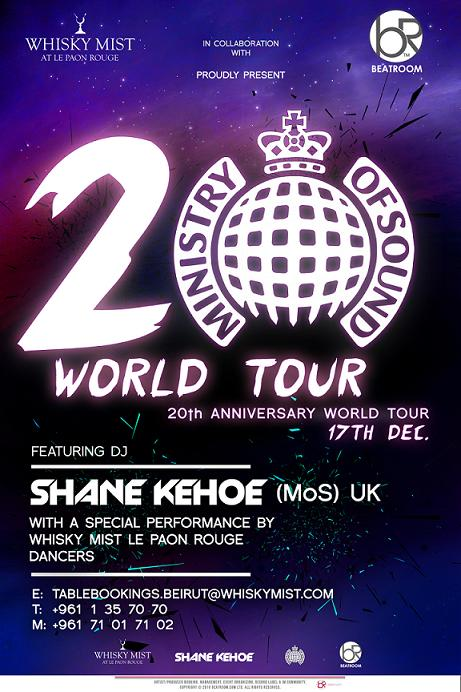 Ministry Of Sound 20th Anniversary World Tour Live At Whisky Mist