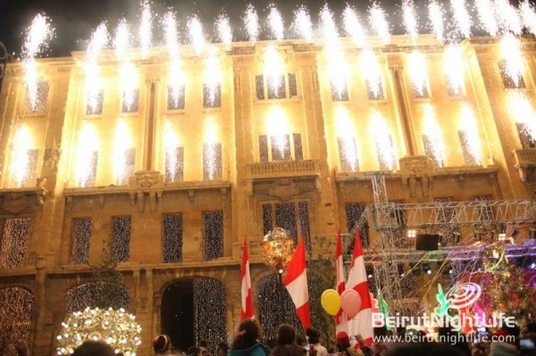 Christmas Tree Lights Up Beirut Souks