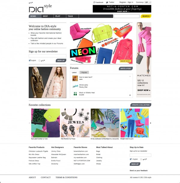 Shop Online with DIA-style.com