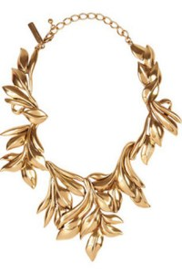 Oscar De La Renta Necklace: Pierre Winter on 2013