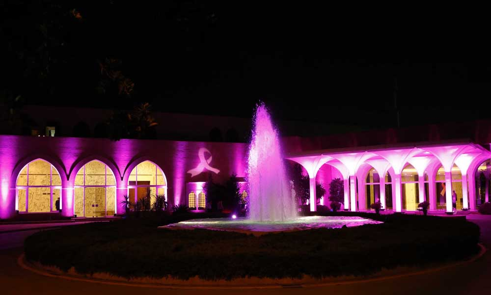Presidential Palace Goes Pink in Support of Breast Cancer Patients