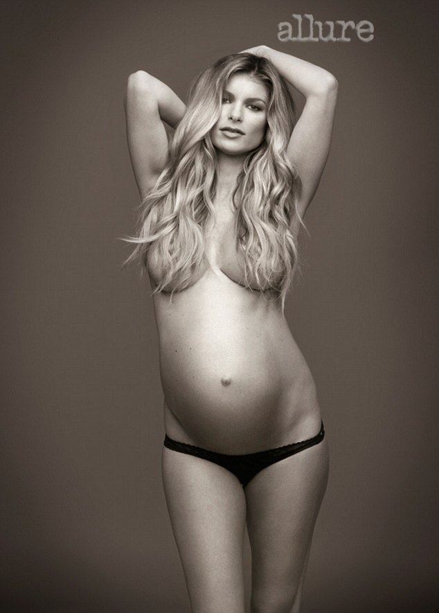 Pregnant Marisa Poses Naked for Allure