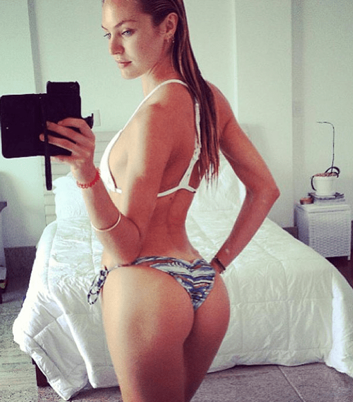 Candice Swanepoel rear-ly is bumthing special
