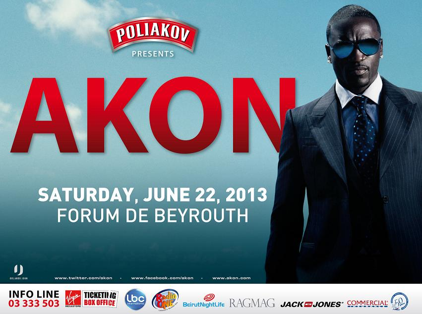 AKON is Days Away From Blowing Beirut Away!