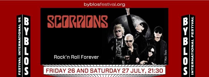 Scorpions at Byblos International Festival