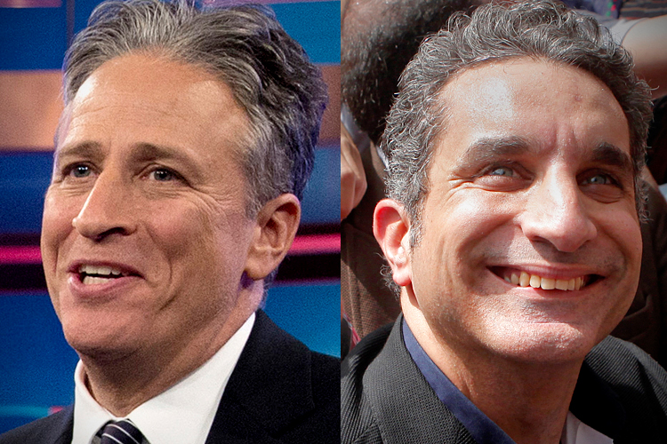 "John Stewart hosted on Bassem Youssef Show ""El Bernameg"""