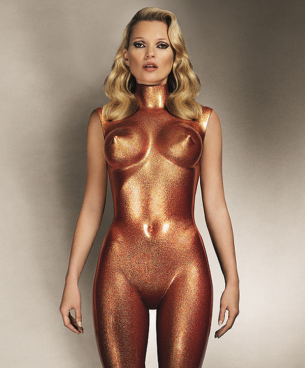 Kate Moss is a golden girl in sexy auction pic