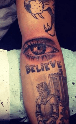 New Justin Bieber Tattoo: The Eye Has It