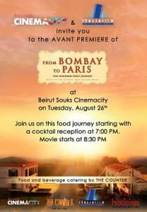 "Win Tickets to the Avant Premiere of the New Movie ""From Bombay to Paris"""