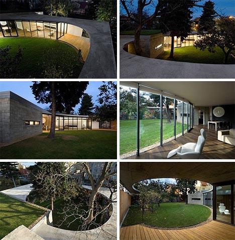 courtyard modern home garden