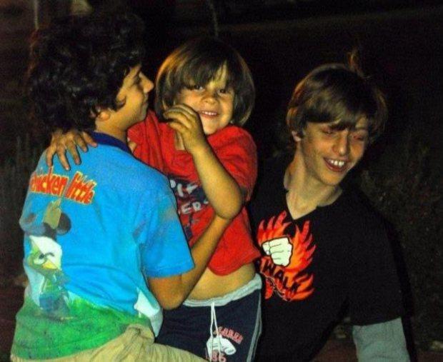 The Shaked boys having fun