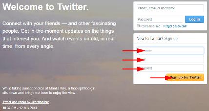 Cara Daftar Twitter Menggunakan Email pada PC atau Smartphone