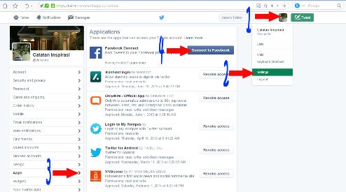 Tutorial Cara Menghubungkan Akun Twitter ke Facebook melalui Laptop Versi Terbaru
