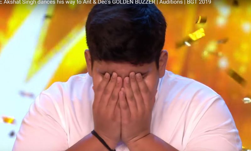 INCREDIBLE Akshat Singh dances his way to Ant & Dec's GOLDEN BUZZER | Auditions | BGT 2019