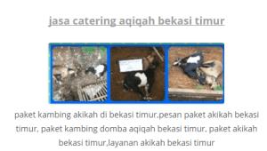 paket kambing aqiqah bekasi timur 2016