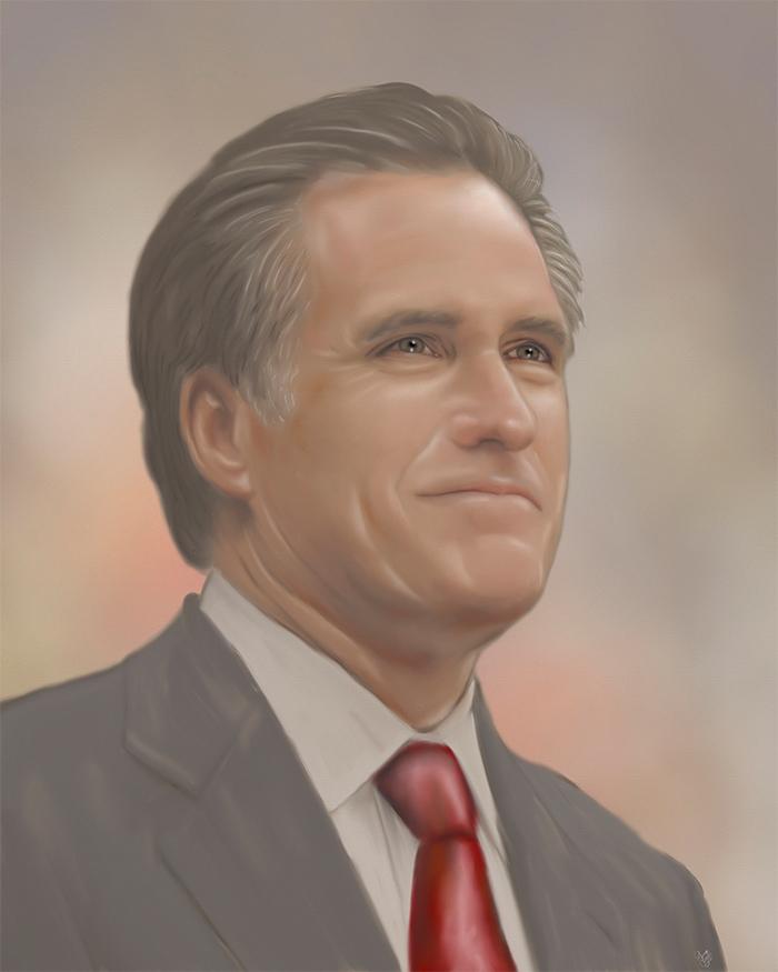 Mitt Romney 2012 Painting