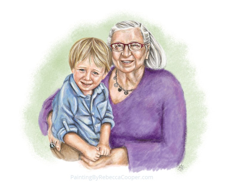 Painting A Memory of Grandma