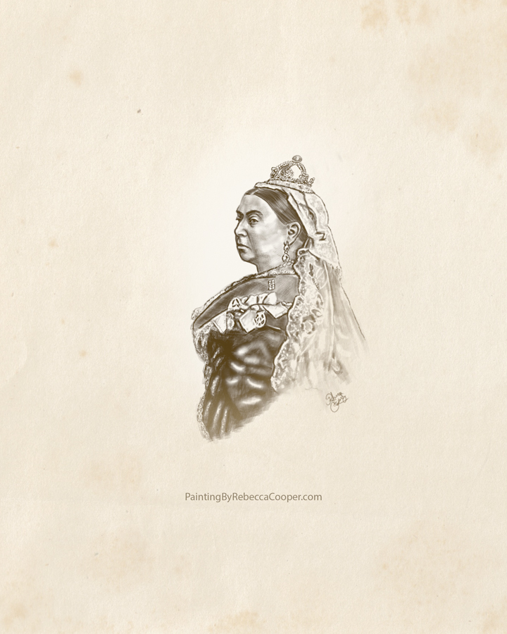 Drawing Challenge: Day 30 Victorian Queen